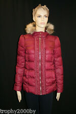 NEW JUICY COUTURE $378 WINE PUFFER HOODED DOWN COAT JACKET SZ S SMALL