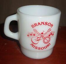 Vintage Milk Glass BRANSON MISSOURI Coffee Stackable Mug