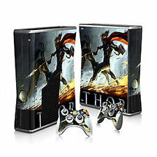 Thor The Avengers Loki Xbox 360 Slim Console + 2 controller Vinyl Skin Sticker