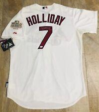 Matt Holliday 2011 WS Champs Signed Authentic Majestic Cardinals Jersey JSA