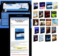 Turbo PLR SHOP mit 20 PLR Produkten - PLR LIZENZ - Keine Datenbank erforderlich