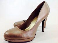 Large Size Ladies Pewter/Gold Brush Shimmer Shoes Size UK10/EU45 UK11 PLUS SIZE