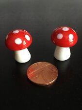 2 verre de champignons/Champignons, maison de poupées miniature, Fée Jardin. Tue-mouche