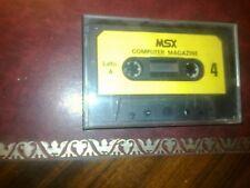 Msx Computer Magazine No 4 Cassette retroedicola