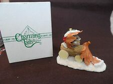 "Charming Tails Figurine by Den Griff - ""Snow Plow Figurine"" 87566"