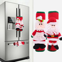 2Pcs Christmas Microwave Oven Fridge Door Handle Covers Christmas Decorations