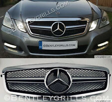 Mercedes W212 E Class Grille, 2009-2013 Chrome And Black Grill AMG Look