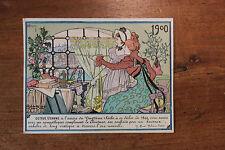 1900 Octave Uzanne Carte de voeux artistique rare Art Nouveau Thiriet aquarelle