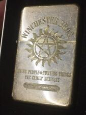 Supernatural WINCHESTER Bros. LIGHTER with Gift Box brass oil lighter Sam & Dean