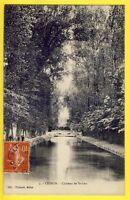 CPA CESSON (Seine et Marne) CHÂTEAU de SAINT LEU Canal du BALORY Pont Animés