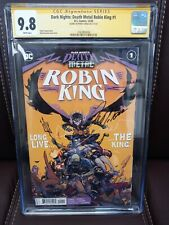 Dark Nights: Death Metal Robin King 1 CGC 9.8 Signed Tomasi. Only 21 census 🔥