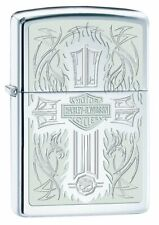 Zippo Harley-Davidson Lighter w/ Cross & Harley Logo, High Polish Chrome #28982