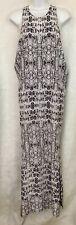 Mikoh Dress Long Peach And White Silk Print  Razorback Size S