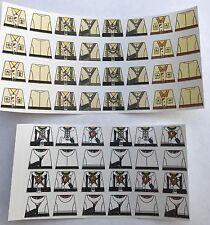 Custom 56 stickers german soldiers WW2 GERMAN AK & WINTER SIZE - lego torso