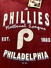 PHILADELPHIA PHILLIES MLB MAJESTIC COOPERSTOWN BARNEY TEE AUTHENTIC MEN'S SHIRT