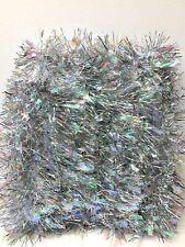 Christmas Tree Tinsel Garland Silver