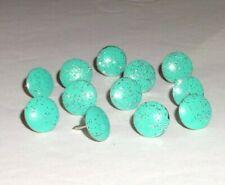 30 Aqua Teal Silver Glitter thumb tacks, Decorative push pin Office School Decor