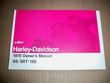 AERMACCHI HARLEY AMF NOS 1978 SS125 / SXT125 OWNERS MANUAL 99471-78