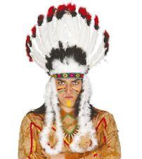 Copricapo indiano con piume per travestimento pellerossa