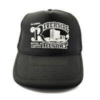 Don Laughlin's Riverside Resort Hotel Casino Trucker Hat Cap Snapback Black