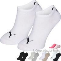Puma Sports Socks Kids Packs - Invisible Sneakers Two Pair Plain/Mix Junior Pack