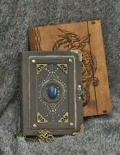 Celtic Legend series Handmade leather craft paper notebook in wooden box