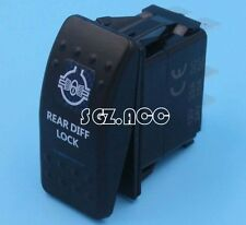 REAR DIFF LOCK Rocker Switch Carling ARB Narva Style BLUE LED Heaps of Designs