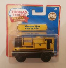 Thomas tank & Friends YELLOW RHENEAS NEW COAT OF PAINT WOODEN TRAIN NEW IN BOX