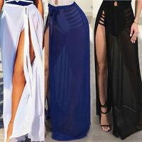 Women Swimwear Bikini Cover Up Sheer Beach Skirt Sarong Pareo Long Maxi Dress