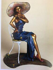 Brigitte Bronze sculpture, Lost wax method by Isaac Maimon