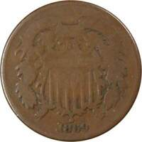 1869 Two Cent Piece AG About Good Bronze 2c US Type Coin Collectible