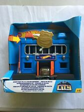 Hot Wheels City Downtown Playset, Police Station