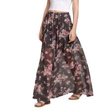 Hollister Floral Print Maxi Skirt size Medium