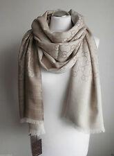 GUCCI women scarf shawl GG Guccissima 70 x 200 cm wool silk new 165903