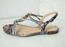 Tamaris Riemchen Sandale Schlagenprint Gr. 39 braun grau Sandalette snake Irene