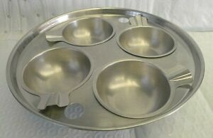 Revere Ware Stainless 4 Egg Poach Skillet Insert with All 4 Cups