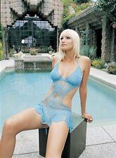 Leg Avenue Crochet Halter 8446 Blue Medium/Large