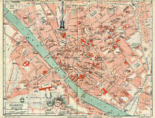 Florence Firenze Centro Storico Florence City Map From 1897 City Map