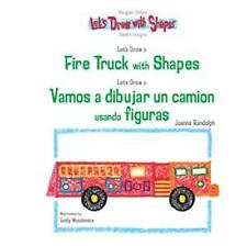 Let's Draw A Fire Truck With Shapes  Vamos A Dibujar Un Camion De Bomb-ExLibrary