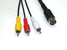 Cinch TV Kabel 5,0m für Commodore C64 C128 C16/116/+4 FBAS 3x RCA Cable (CAB009)