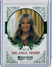 2020 Leaf Decision Direct Holiday GREEN Foil Melania Trump #03/10
