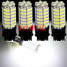4x 3157 3057 3457 4157 6000K Xenon White 120-SMD Daytime Running Lights LED Bulb
