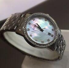 Ladies Genuine Citizen Designer Watch Mop Swarovski Crystals Date EU6030-56D