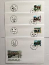 4 Enveloppes FDC Suisses Pro Patria 2003 timbres CH1757/1760, Zum B280/B283