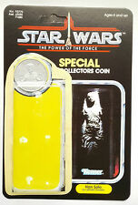VINTAGE HAN SOLO CARBONITE  CARD  KIT POWER OF THE FORCE LAST 17 REPRO COIN