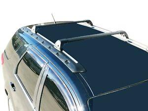 Aerodynamic Roof Rack Cross Bar for Ford Territory 2004-17 Black Flush End