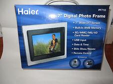 """HAIER 7"""" Digital Photo Black Frame (PF710) (NIB)"""
