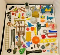 HUGE Vintage 80s 90s Toy *PLAYSET ACTION FIGURE PARTS LOT*