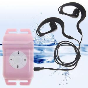 Waterproof MP3 Underwater 4GB Music Player with FM Radio for Swimming Running