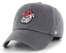 GEORGIA BULLDOGS NCAA UGA DOG GRAY FRANCHISE FLEX FIT CAP HAT '47 BRAND NEW!